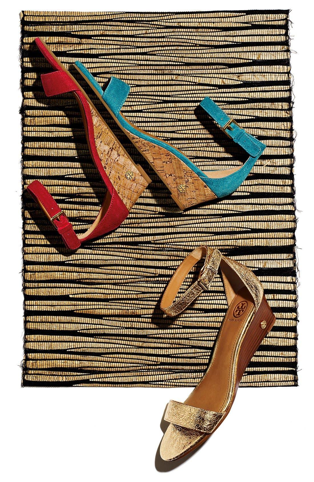 'Savannah' Wedge Sandal,                             Alternate thumbnail 6, color,