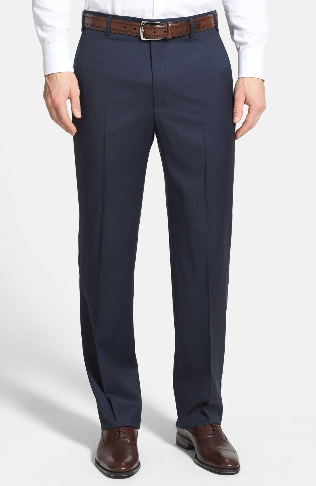 Zanella 'Todd' Flat Front Trousers