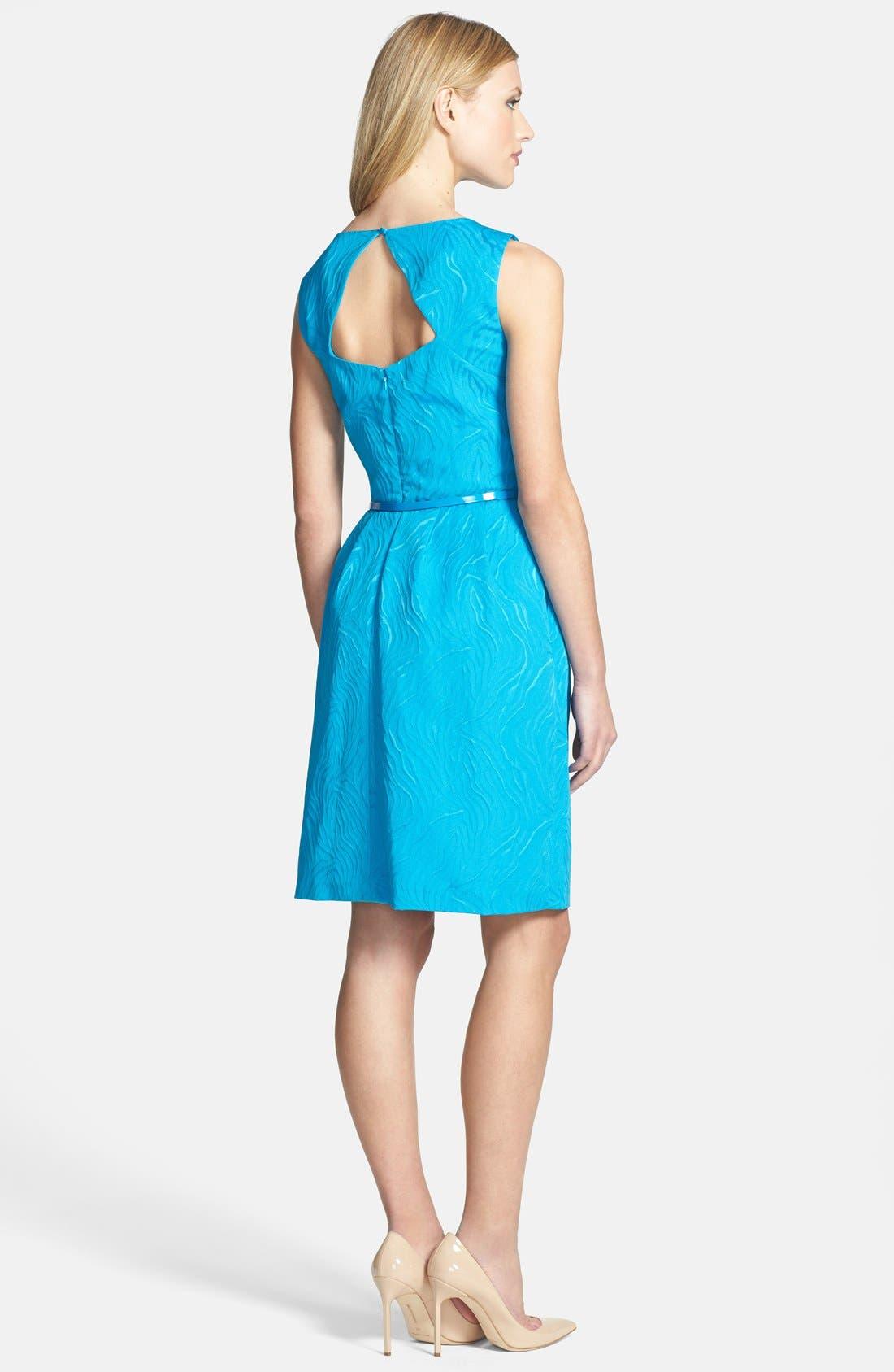 Alternate Image 2  - Ellen Tracy Cutout Back Jacquard Fit & Flare Dress