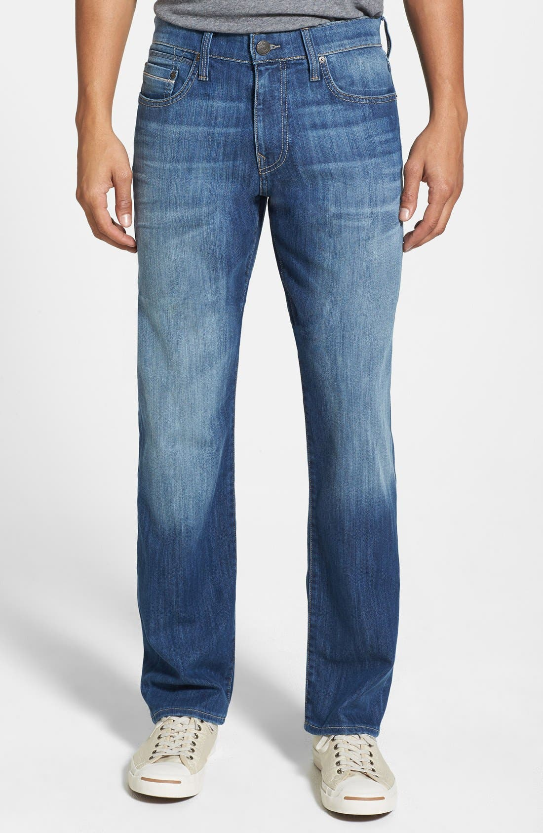Mavi Jeans 'Myles' Straight Leg Jeans (Mid Yaletown) (Regular & Tall)