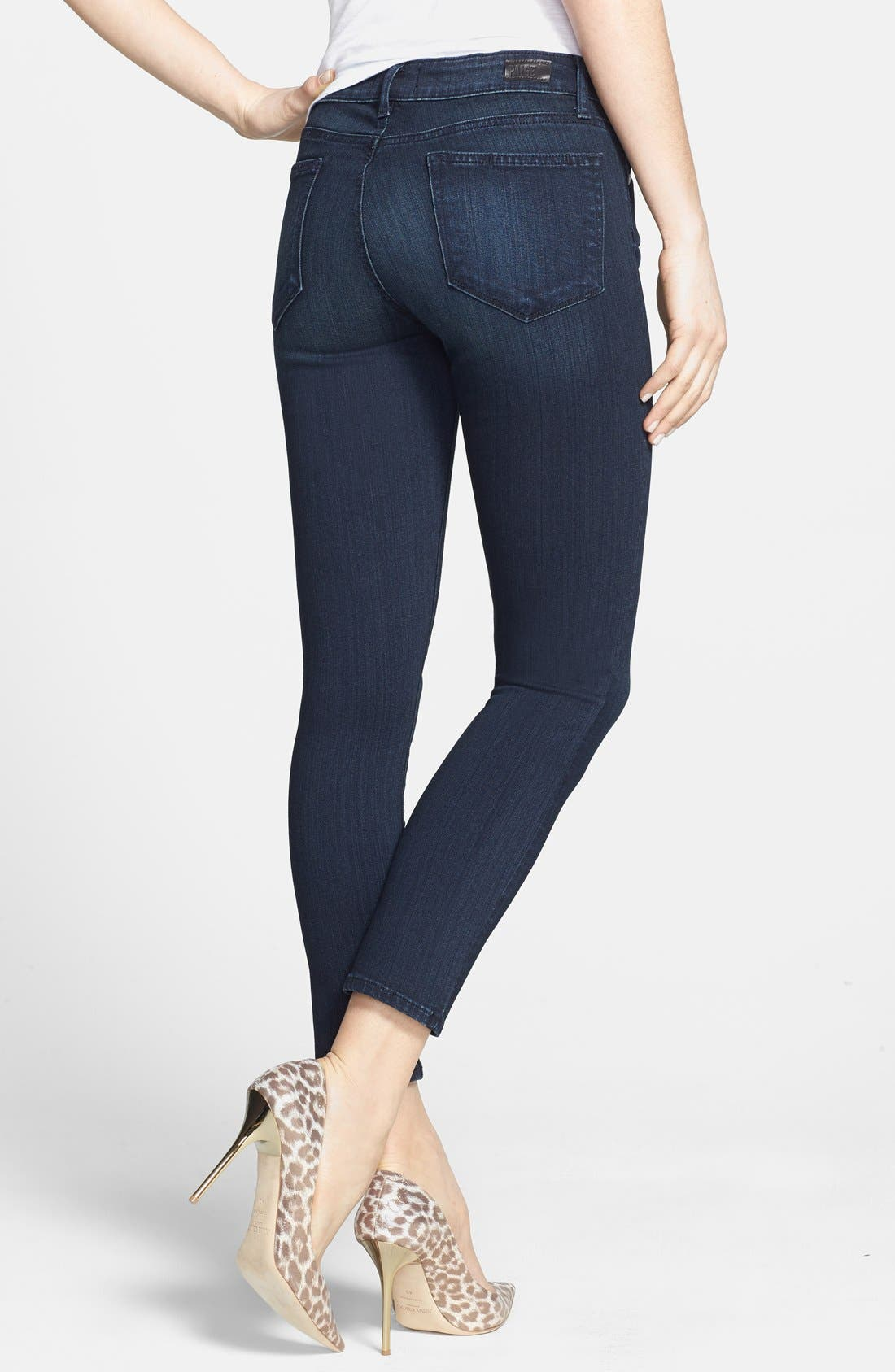 Transcend - Verdugo Crop Skinny Jeans,                             Alternate thumbnail 2, color,                             Midlake