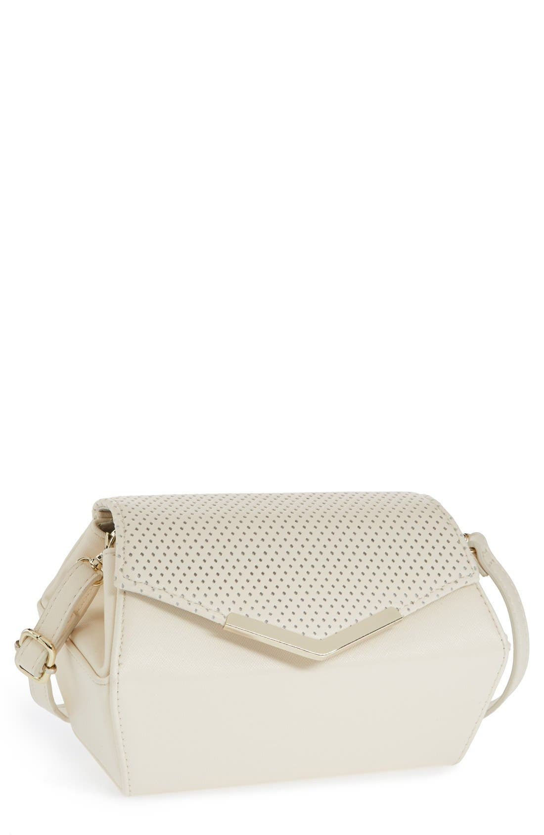Alternate Image 1 Selected - POVERTY FLATS by rian Perforated Crossbody Bag