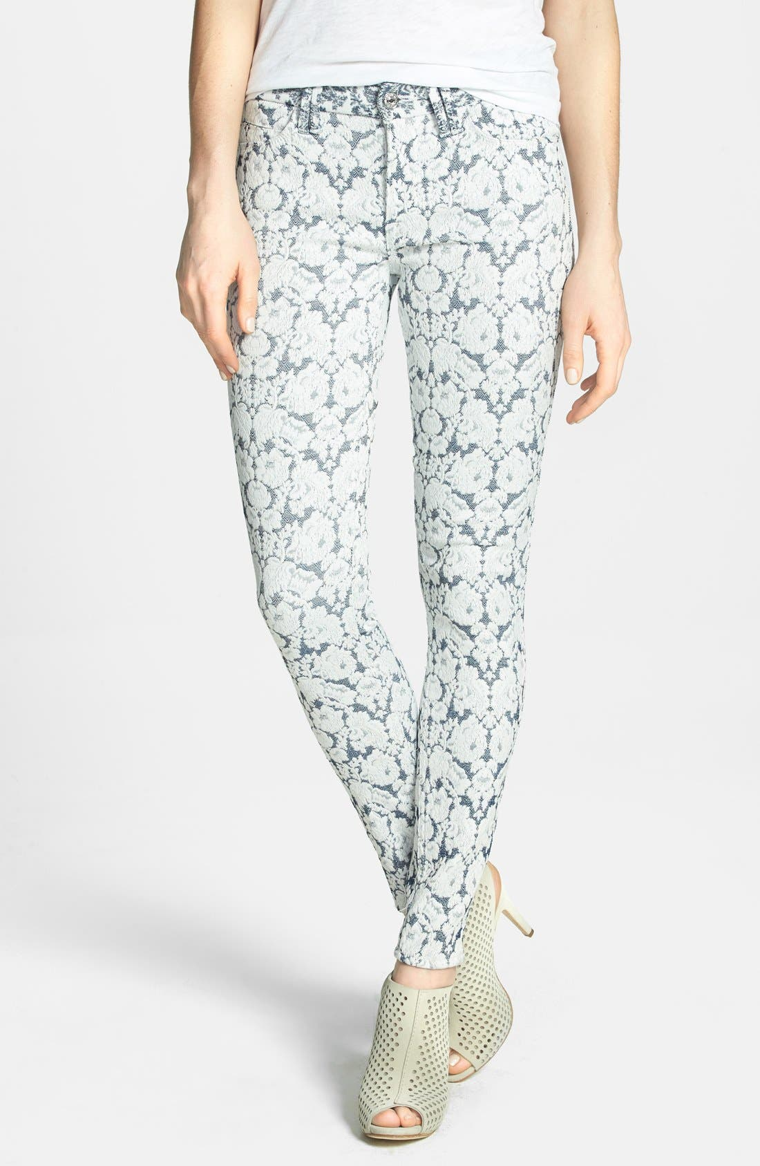Main Image - 7 For All Mankind® Jacquard Skinny Pants