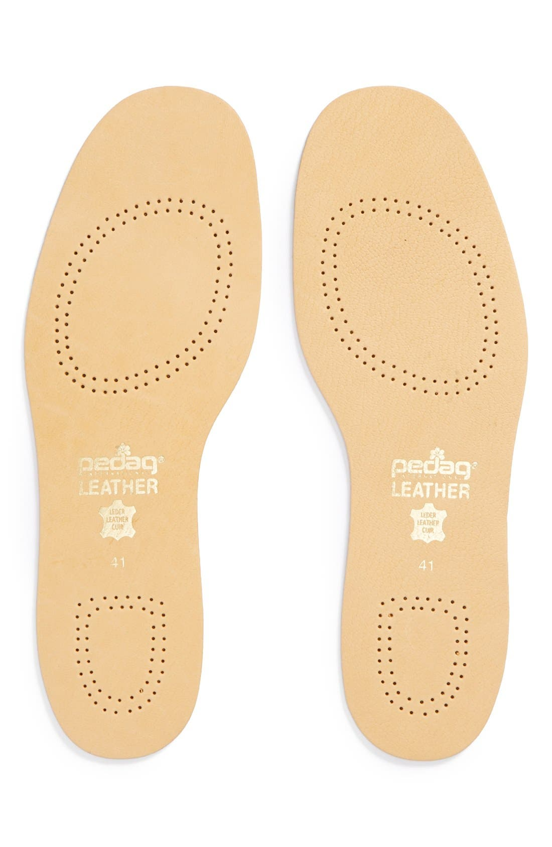 Leather Insole,                         Main,                         color, Tan