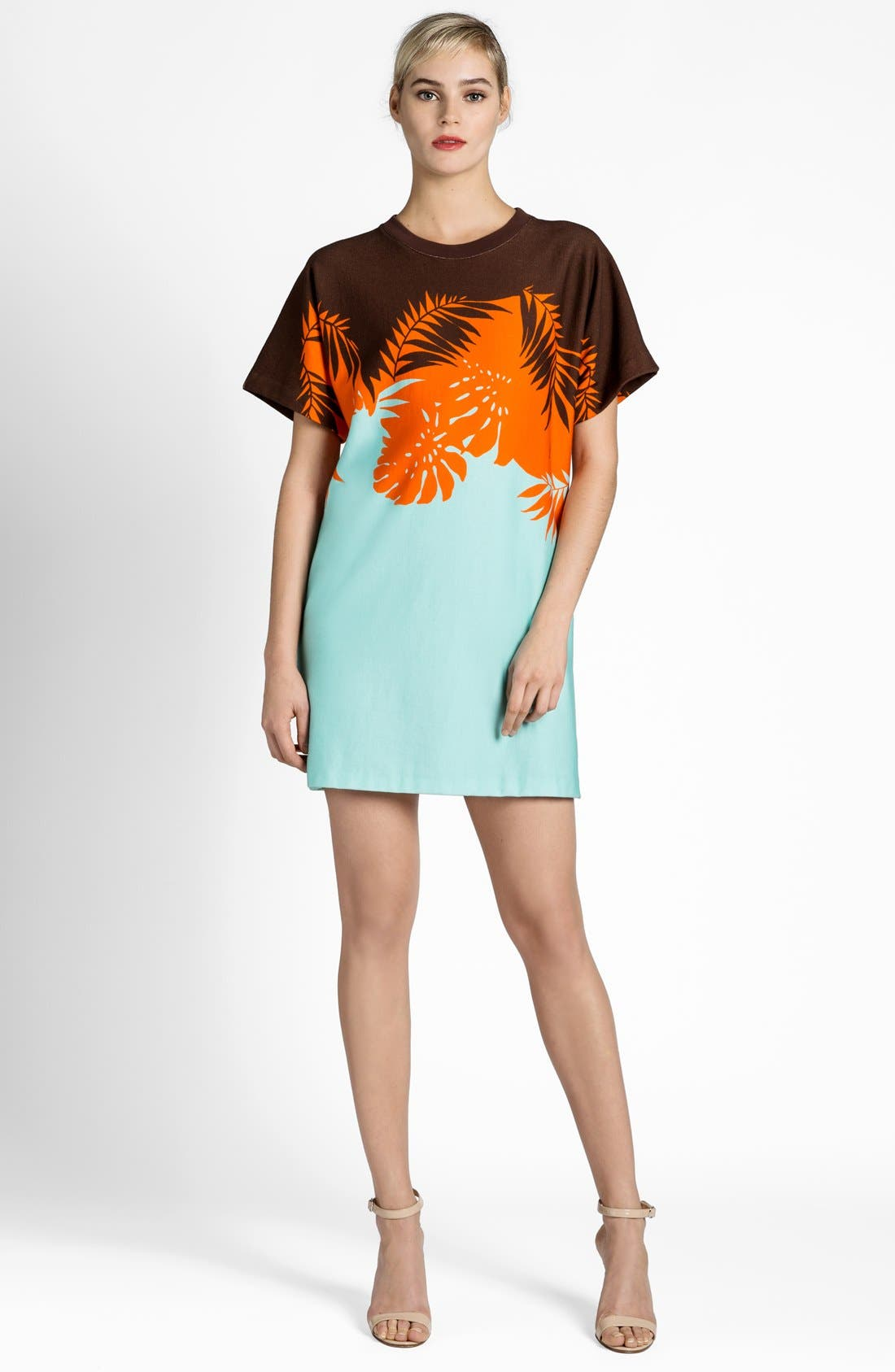 Alternate Image 1 Selected - MSGM Palm Tree Knit Shift Dress