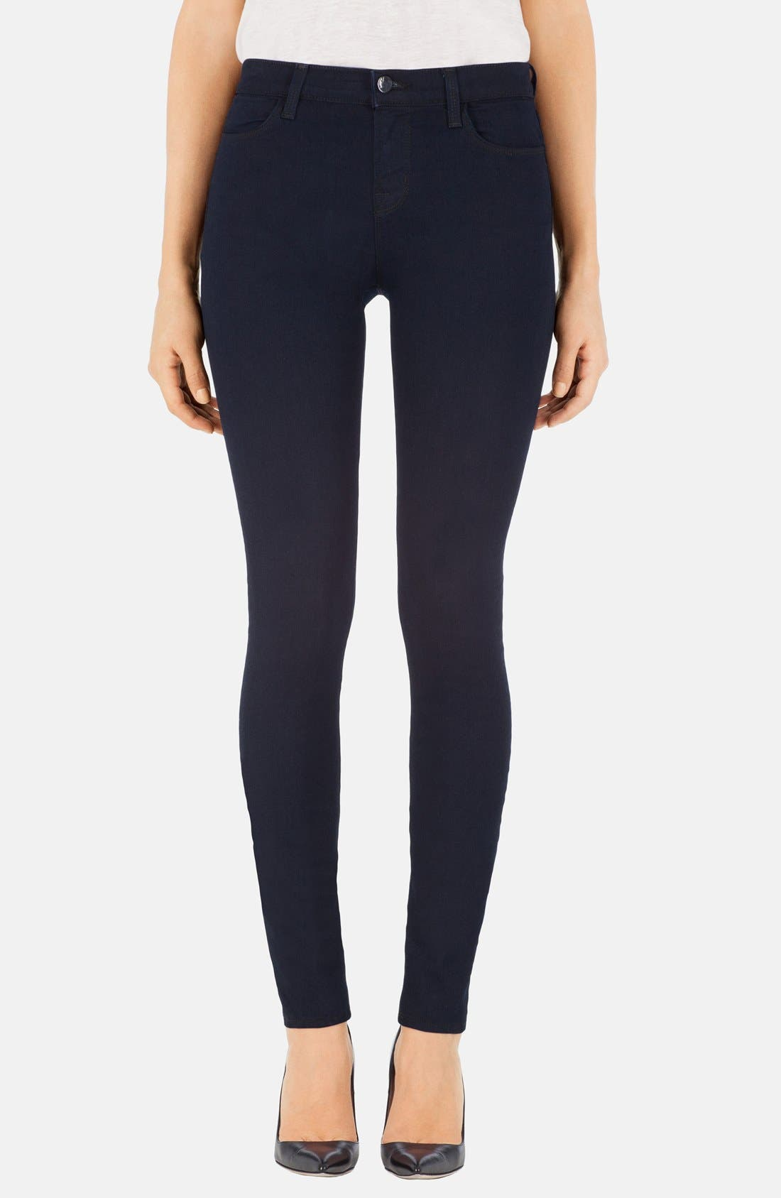 Alternate Image 1 Selected - J Brand 'Maria' High Rise Skinny Jeans (Lapis)