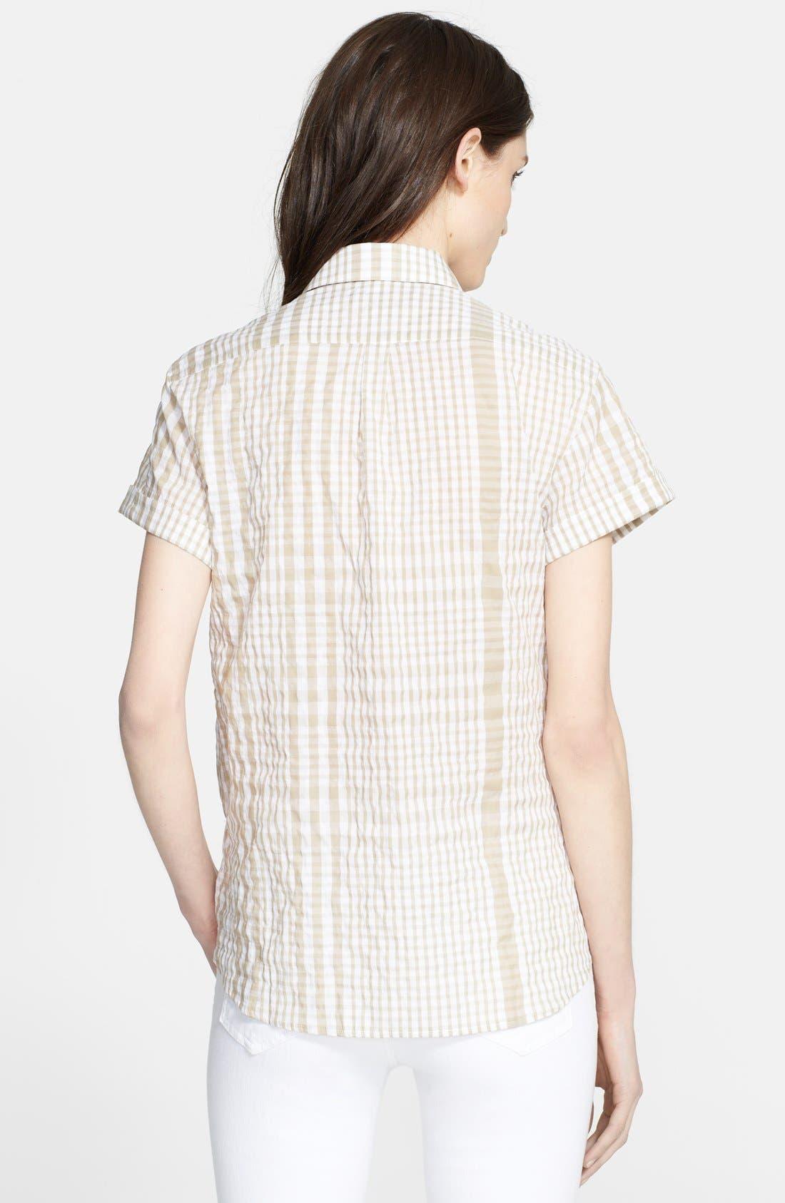 Alternate Image 2  - Burberry Brit Puckered Plaid Shirt