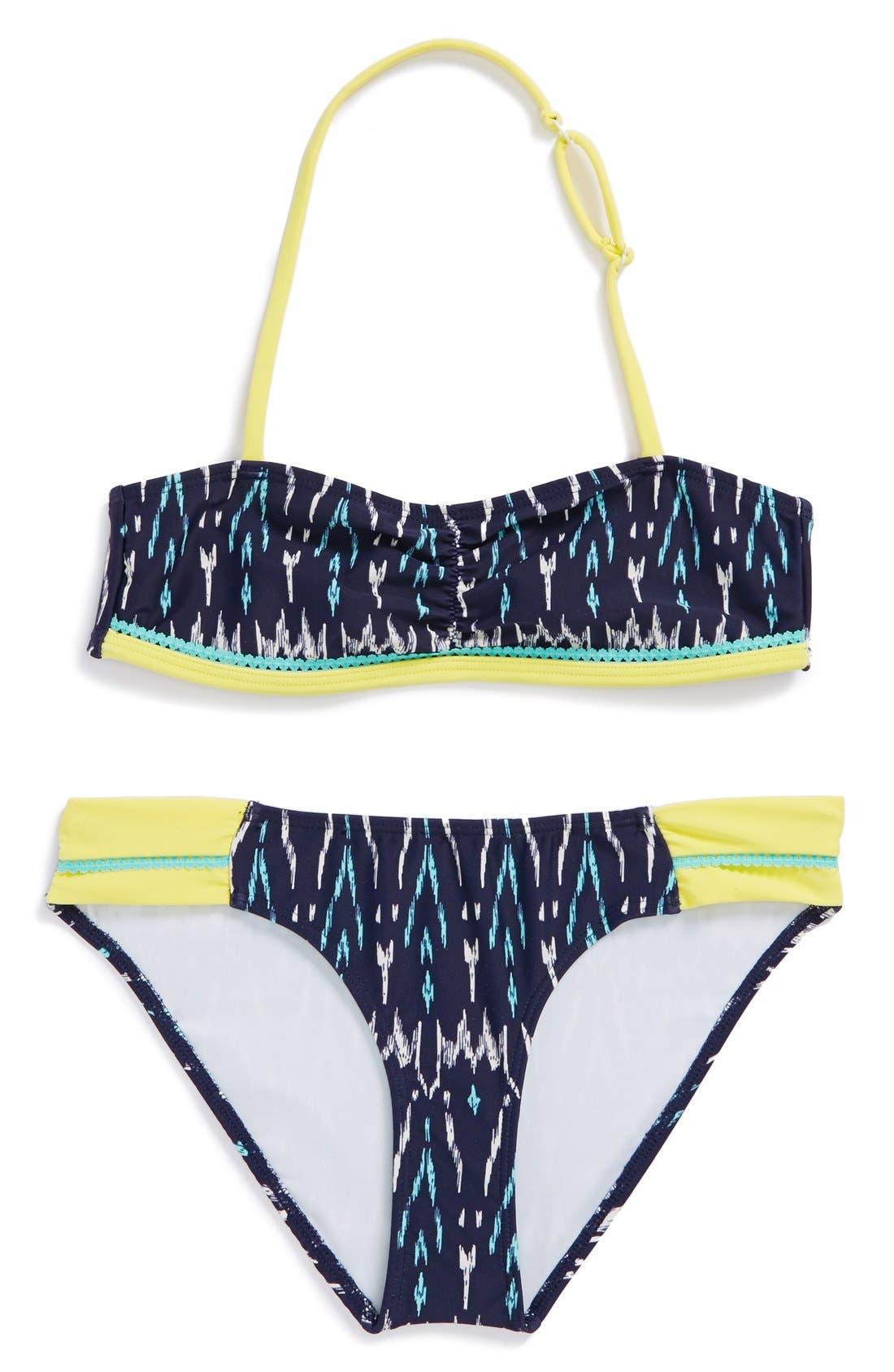 Main Image - Tucker + Tate 'Tropical' Two-Piece Swimsuit (Big Girls)
