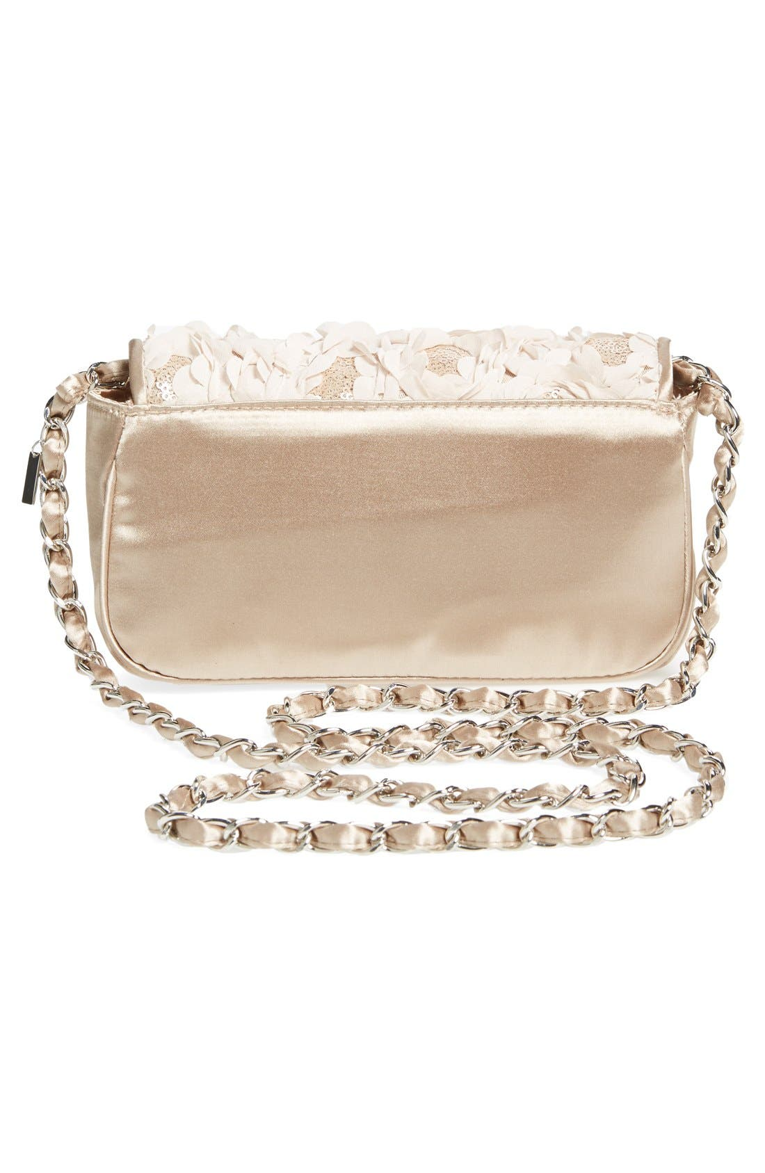 'Lassus' Satin Clutch,                             Alternate thumbnail 3, color,                             Stone