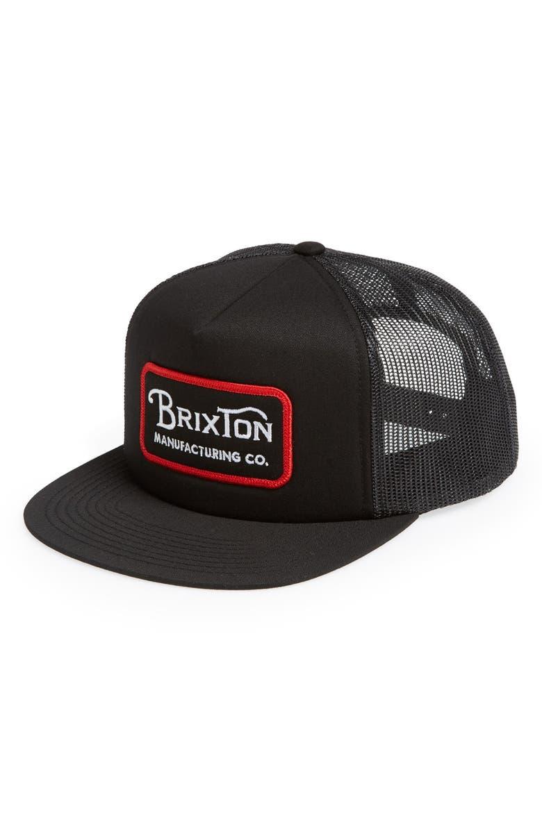 f7b8b8cf9d60b Brixton  Grade  Trucker Cap - Black