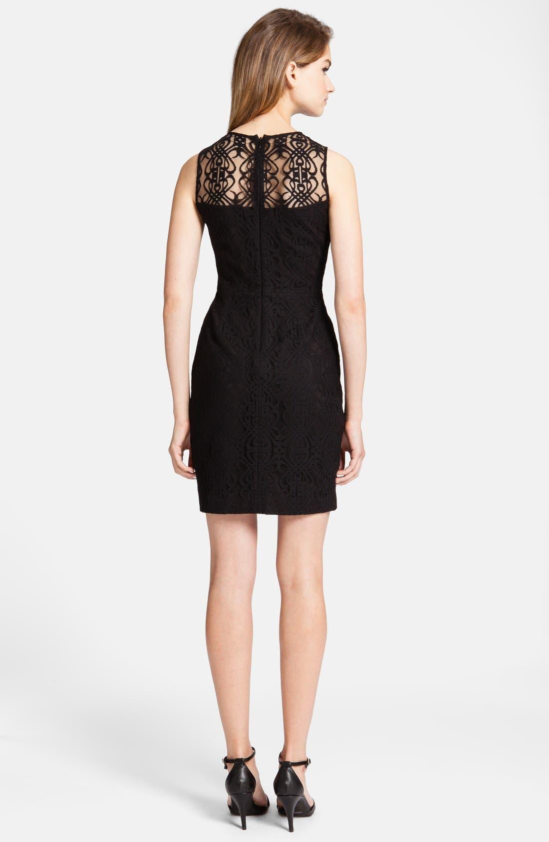 Alternate Image 2  - CeCe by Cynthia Steffe 'Hayden' Lace Sheath Dress