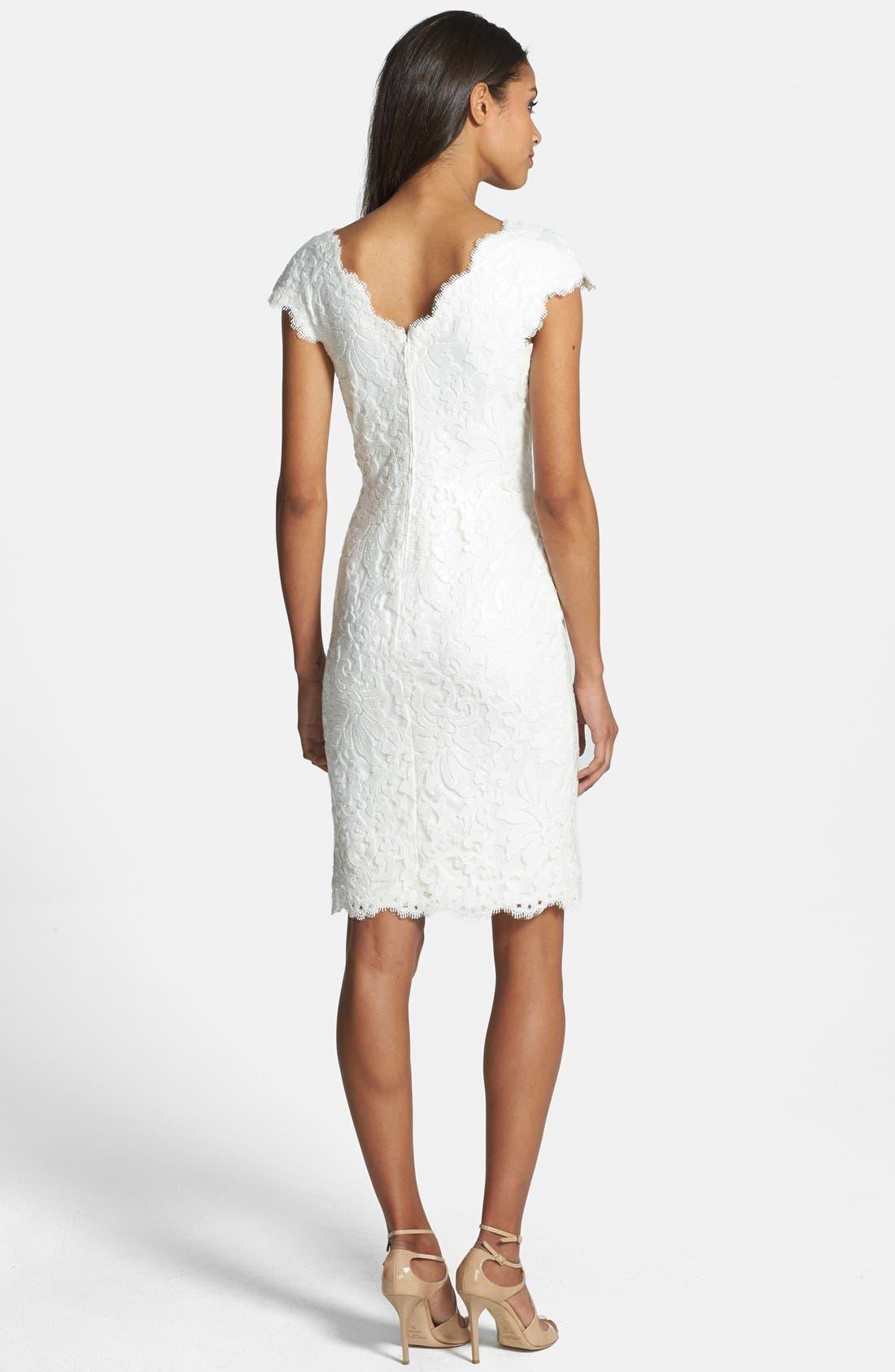 Alternate Image 2  - Tadashi Shoji Lace Sheath Dress