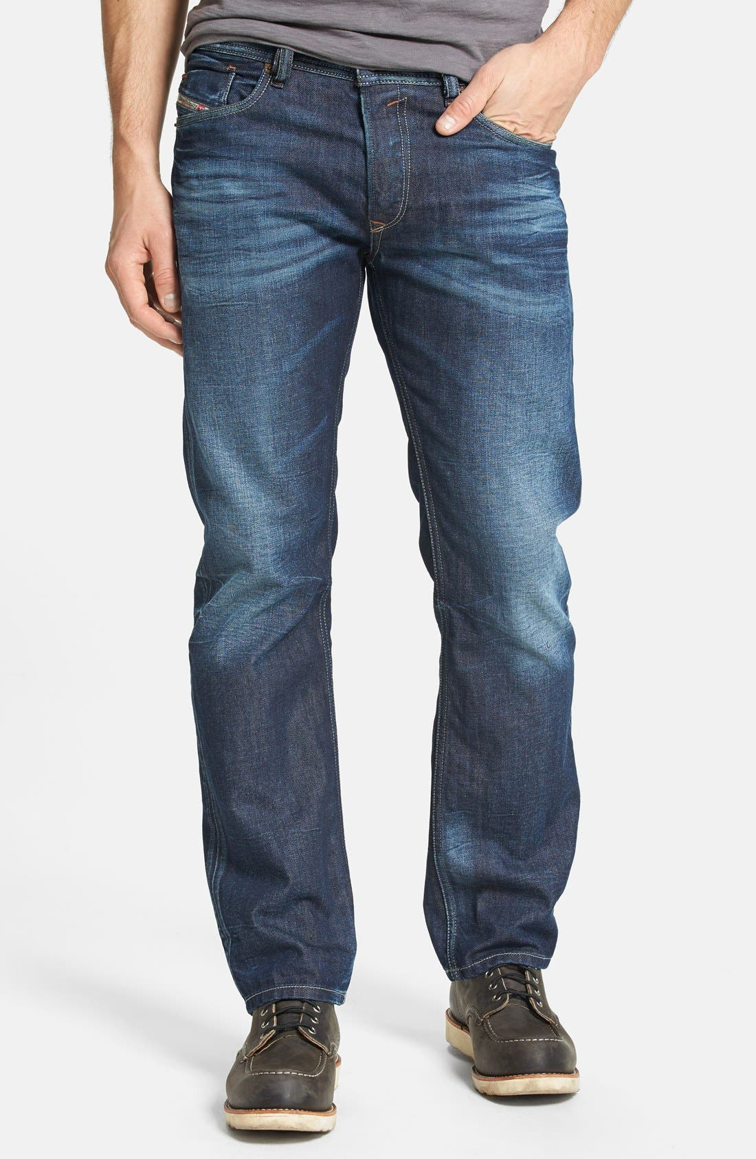 Alternate Image 1 Selected - DIESEL® 'Waykee' Straight Leg Jeans (0806U)