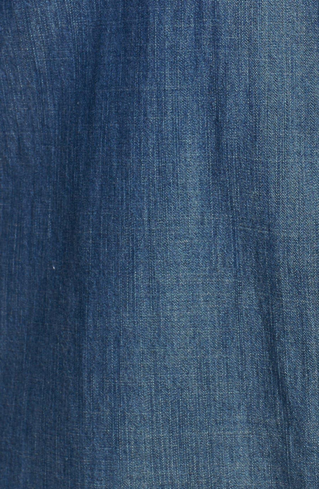Classic Collar Denim Chambray Shirt,                             Alternate thumbnail 3, color,                             Denim
