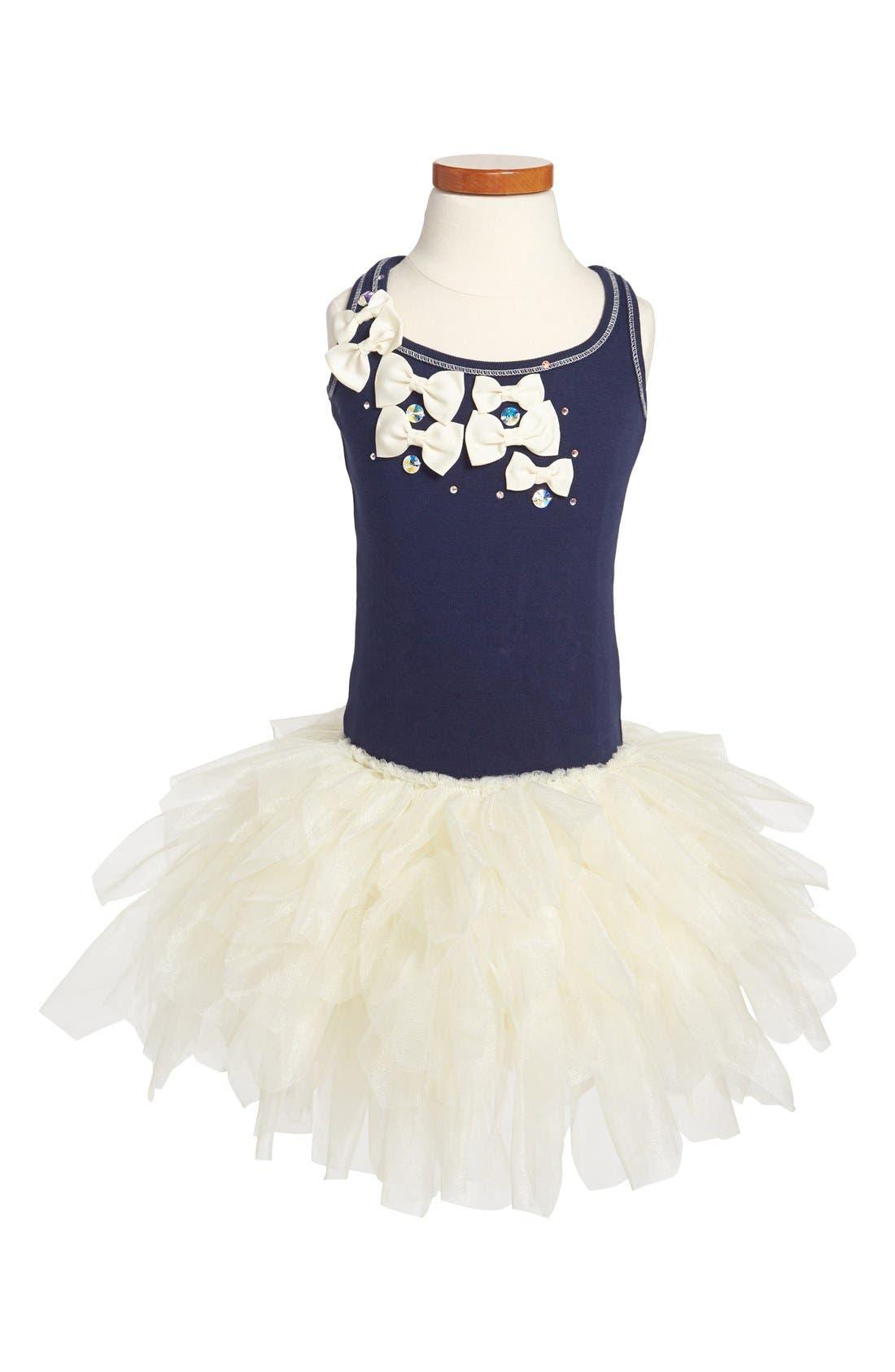 Main Image - Ooh! La, La! Couture 'Little Bow' Tulle Dress (Little Girls & Big Girls)