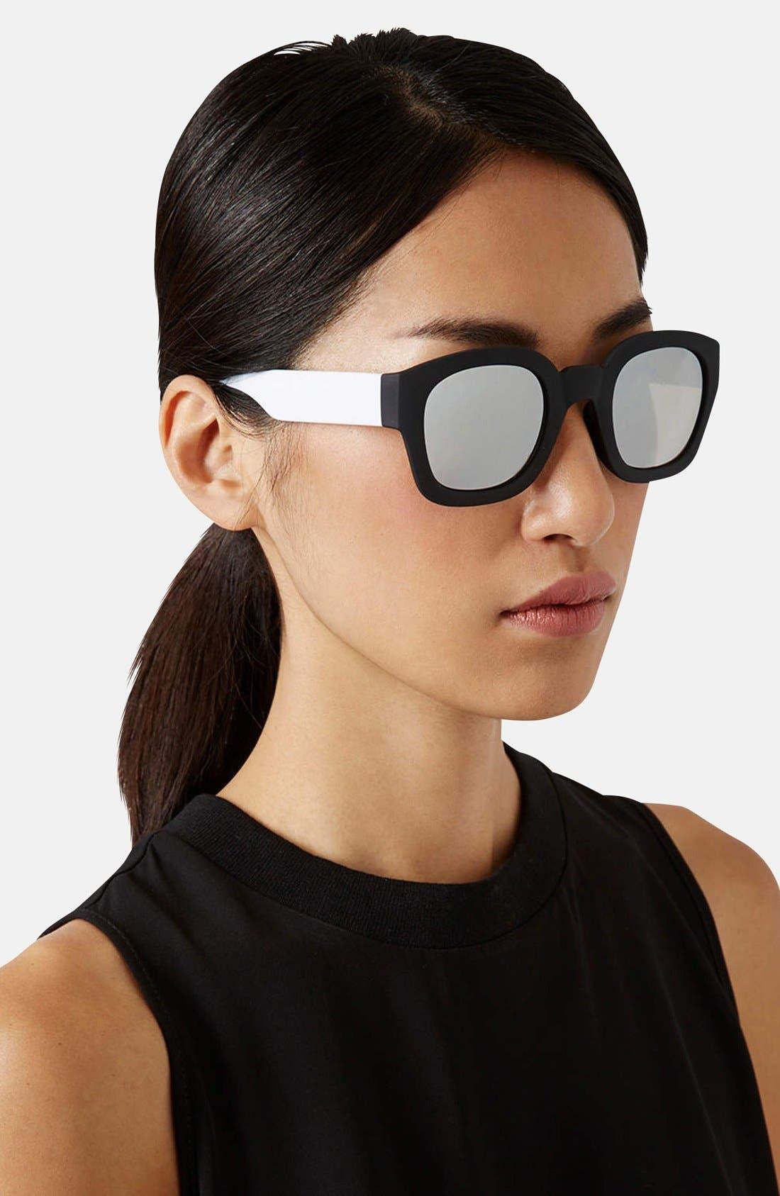 Alternate Image 2  - Topshop 'Wade' 48mm Sunglasses
