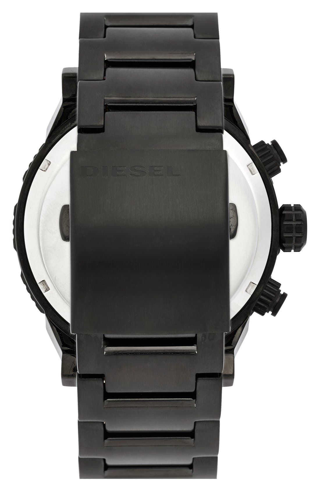 Alternate Image 2  - DIESEL® 'Double Down 2.0' Chronograph Bracelet Watch, 48mm