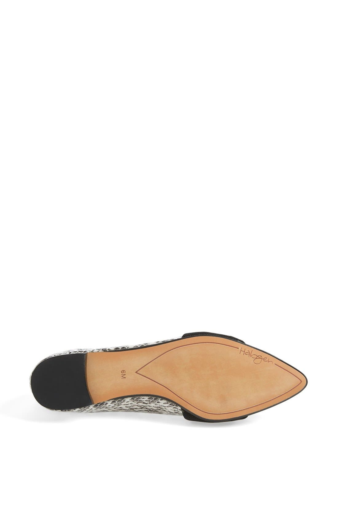 Alternate Image 4  - Halogen® 'Leah' Leather Flat (Women)