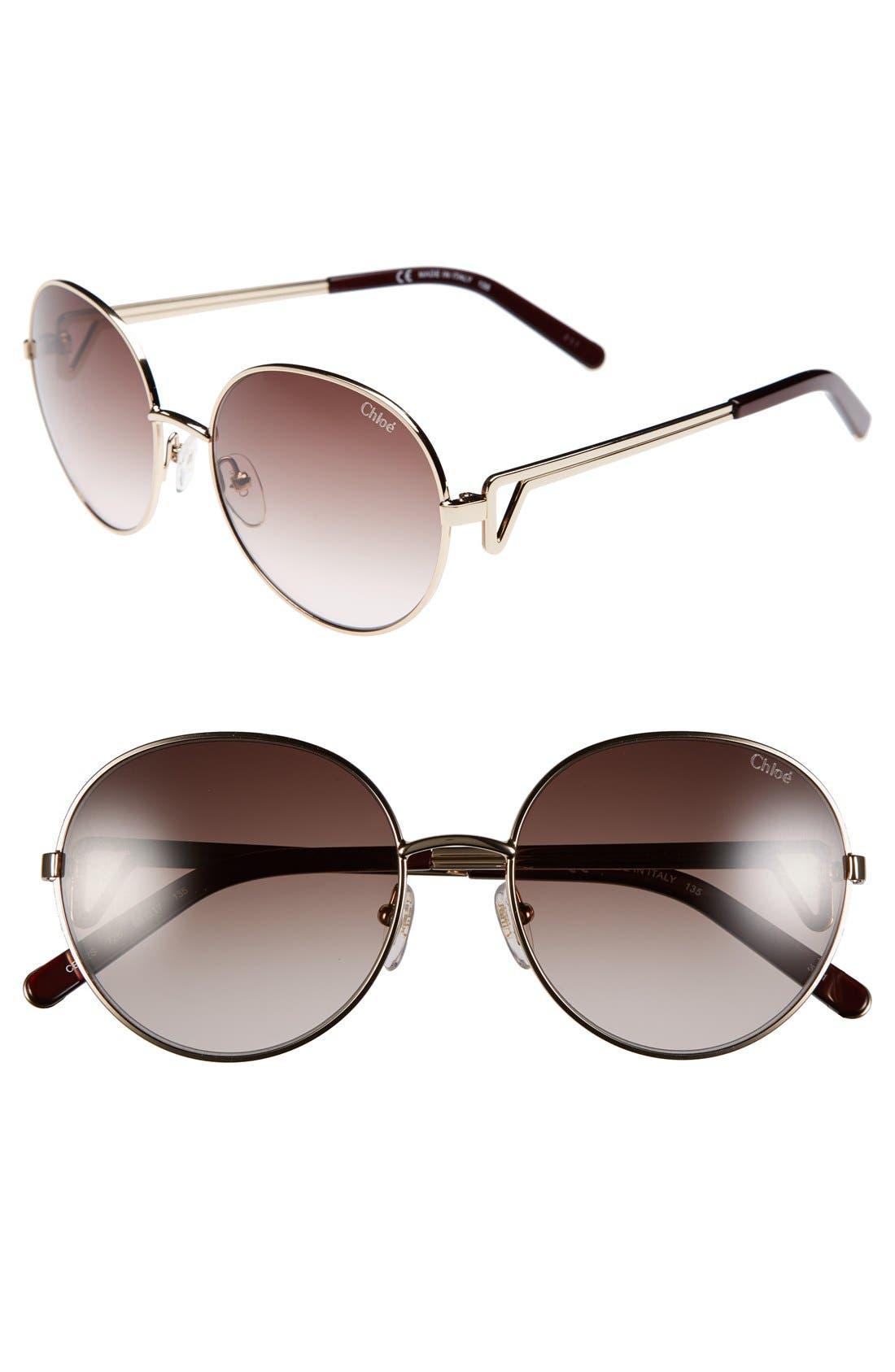 Alternate Image 1 Selected - Chloé 55mm Oval Sunglasses