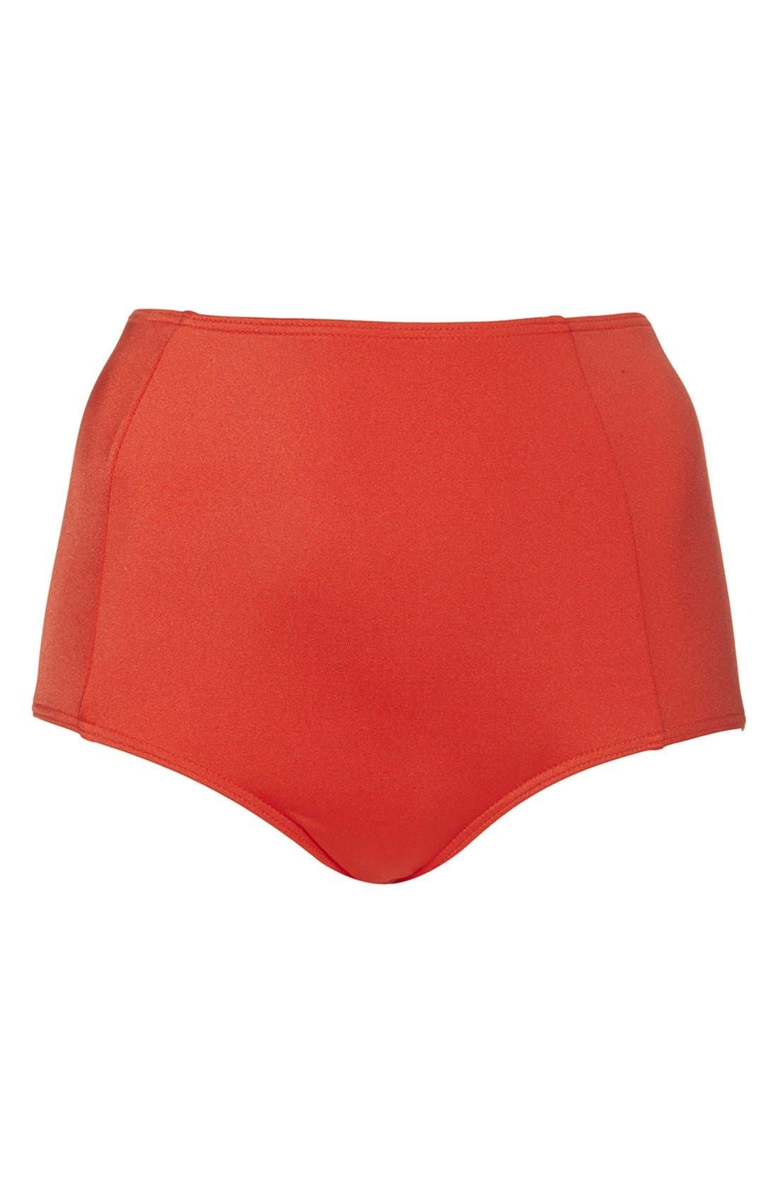 Alternate Image 1 Selected - Topshop High Rise Bikini Bottoms