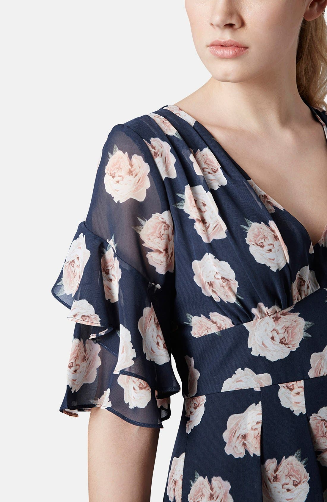 Alternate Image 4  - Topshop Ruffle Floral Chiffon Romper