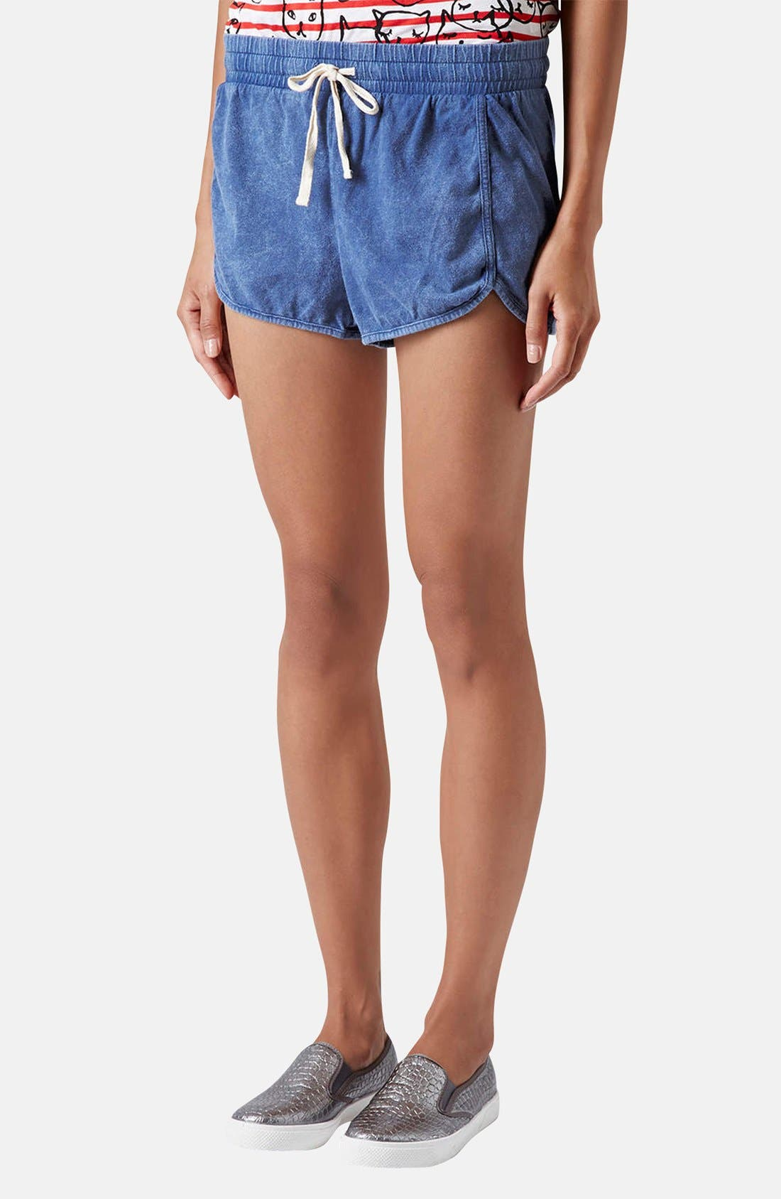 Alternate Image 1 Selected - Topshop Chambray Dolphin Shorts