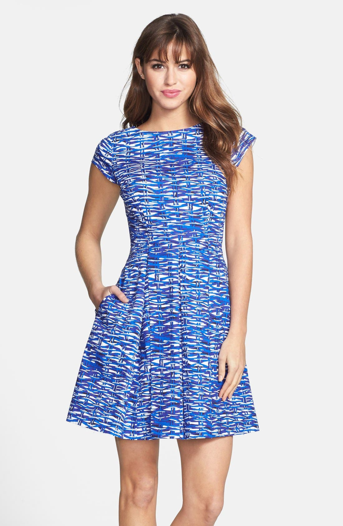 Main Image - Felicity & Coco Print Cotton Fit & Flare Dress (Regular & Petite) (Nordstrom Exclusive)