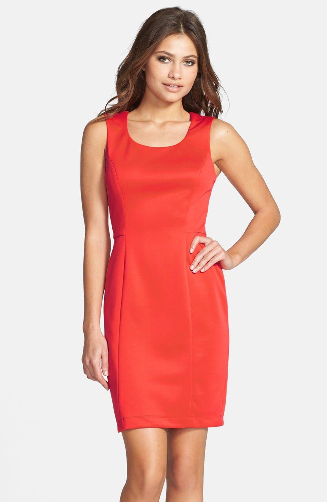 Alternate Image 1 Selected - Jessica Simpson Cutout Back Scuba Sheath Dress