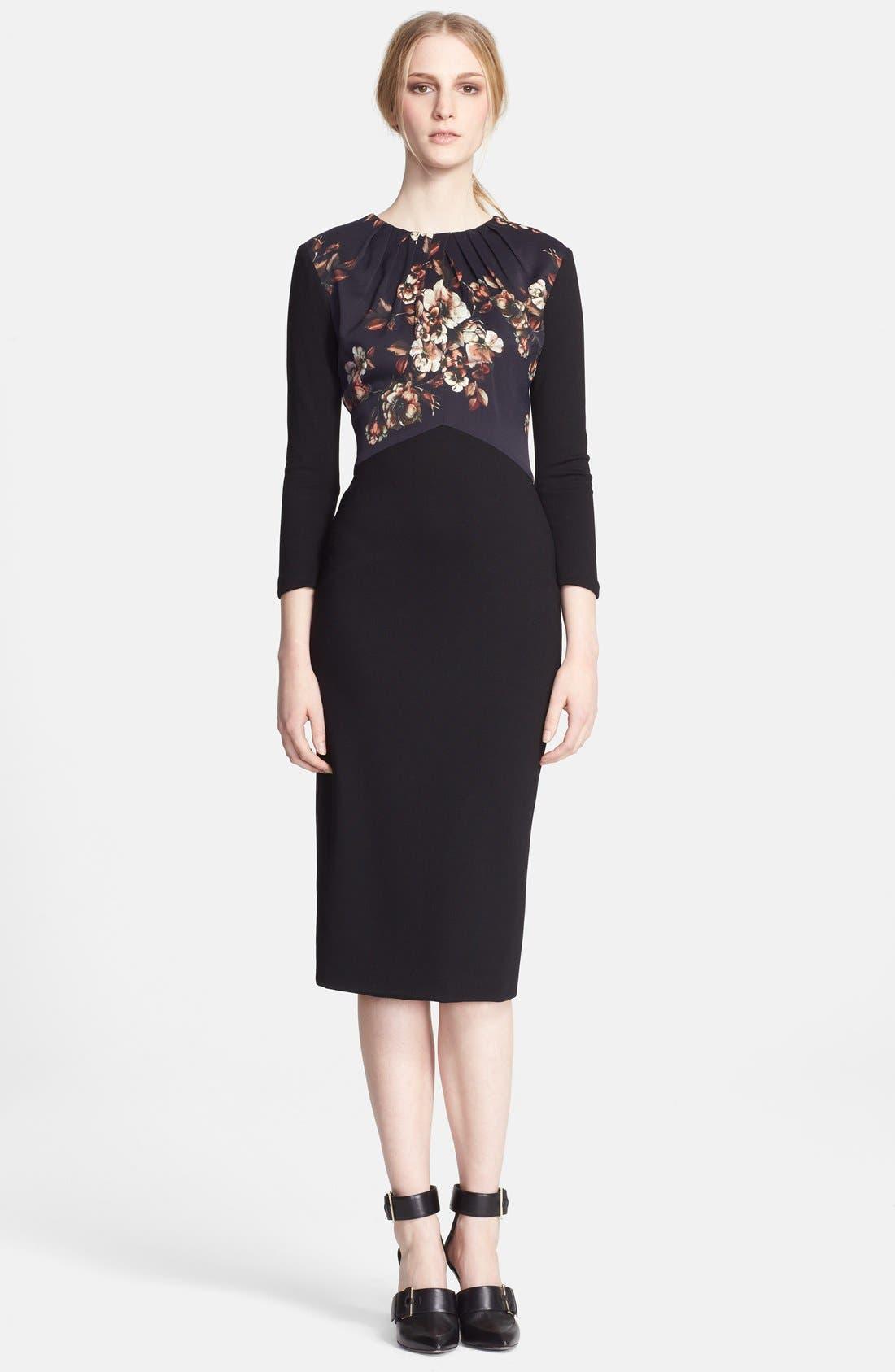 Alternate Image 1 Selected - Jason Wu Print Contrast Knit Midi Dress