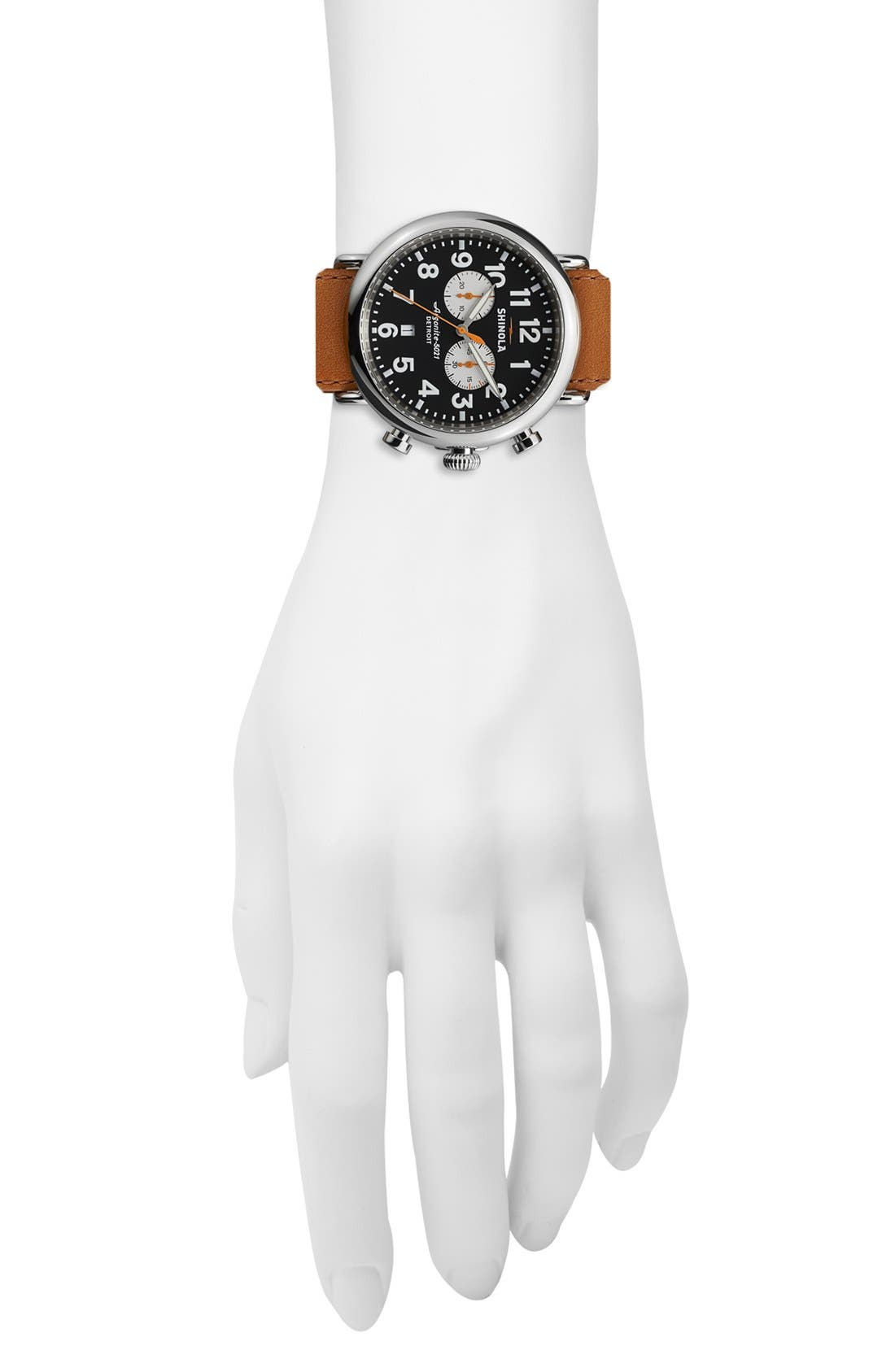 Alternate Image 4  - Shinola 'The Runwell Chrono' Leather Strap Watch, 47mm