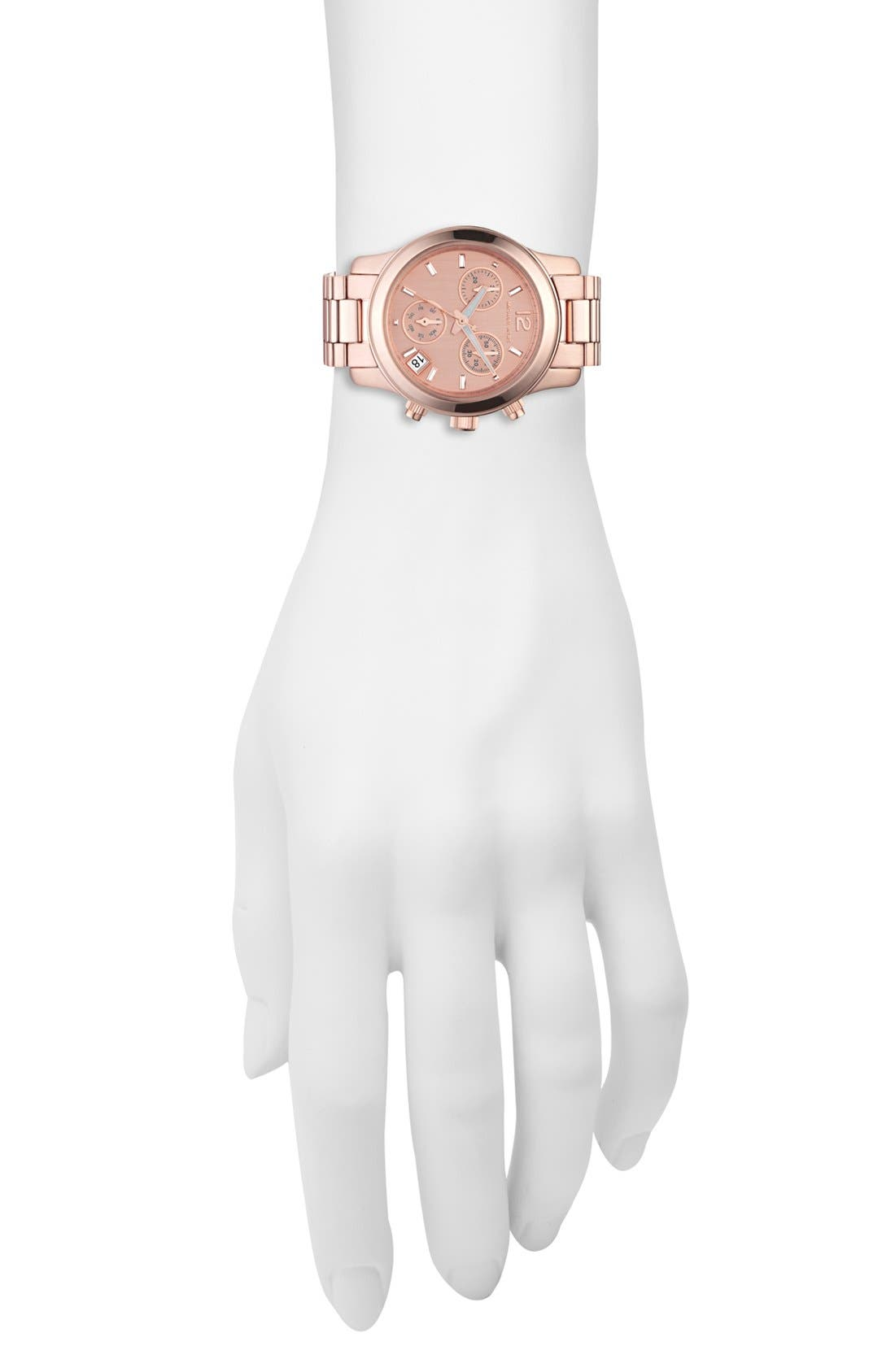 Alternate Image 2  - Michael Kors 'Mini Runway' Chronograph Bracelet Watch, 33mm