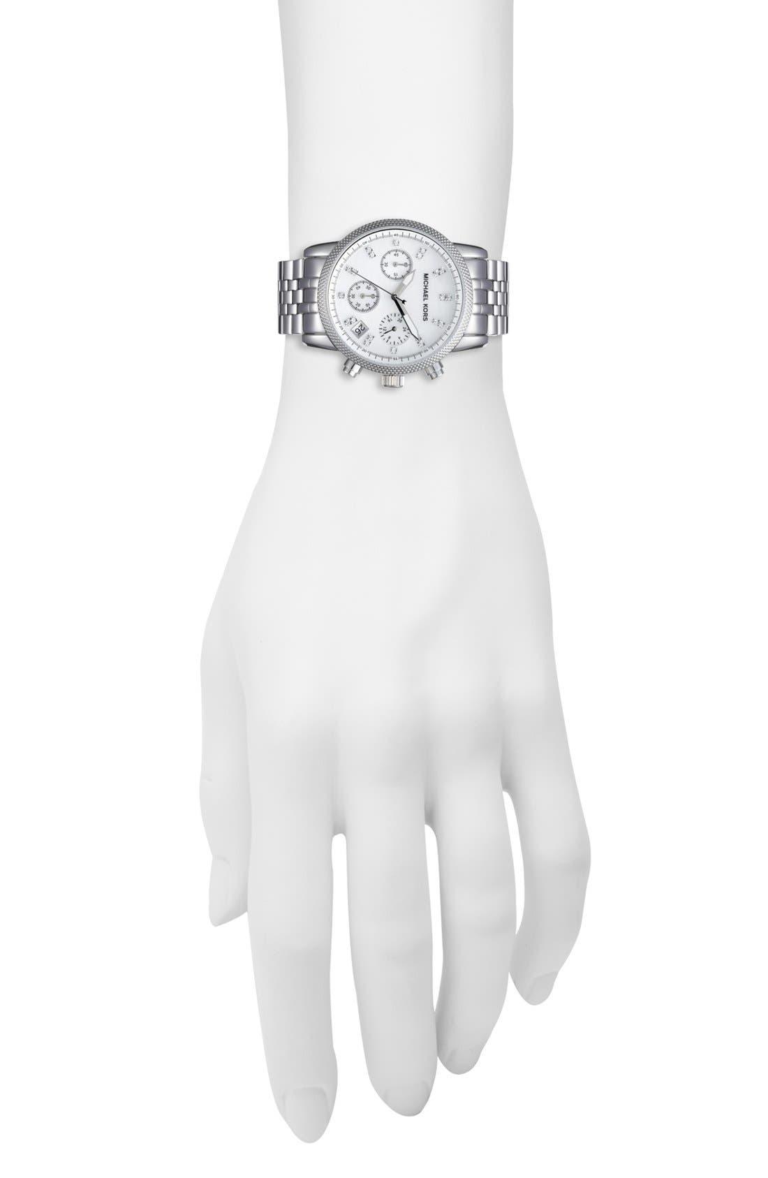 Alternate Image 3  - Michael Kors 'The Ritz' Chronograph Bracelet Watch, 36mm