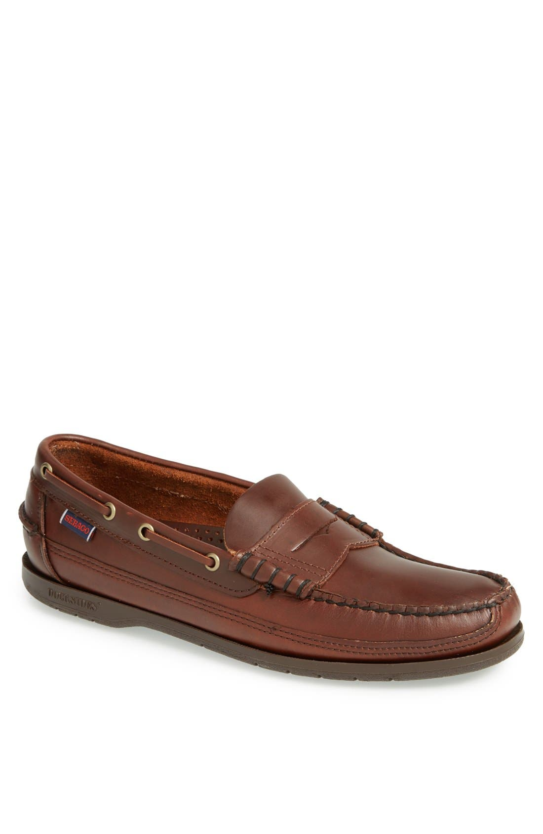 'Sloop' Penny Loafer,                             Main thumbnail 1, color,                             Brown