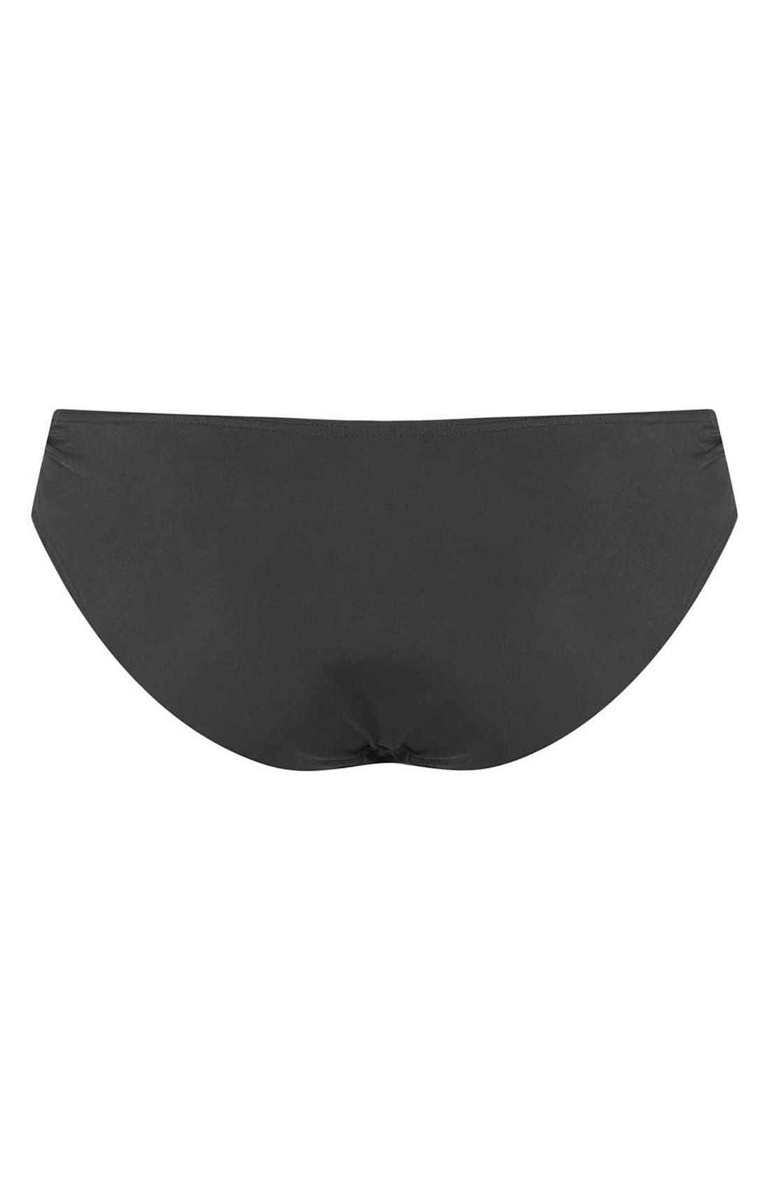 Alternate Image 2  - Topshop 'Diamond' Ruched Side Bikini Bottoms