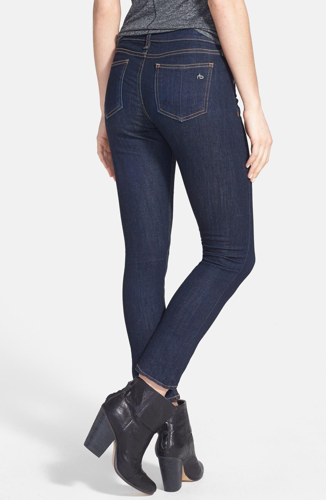 Alternate Image 2  - rag & bone/JEAN Crop Skinny Jeans (Heritage)