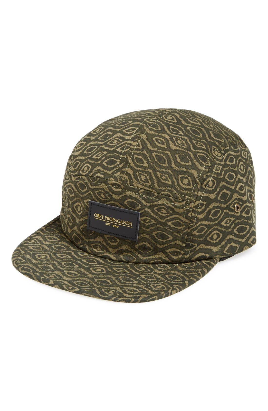 Main Image - Obey 'Trippy' Five-Panel Cap