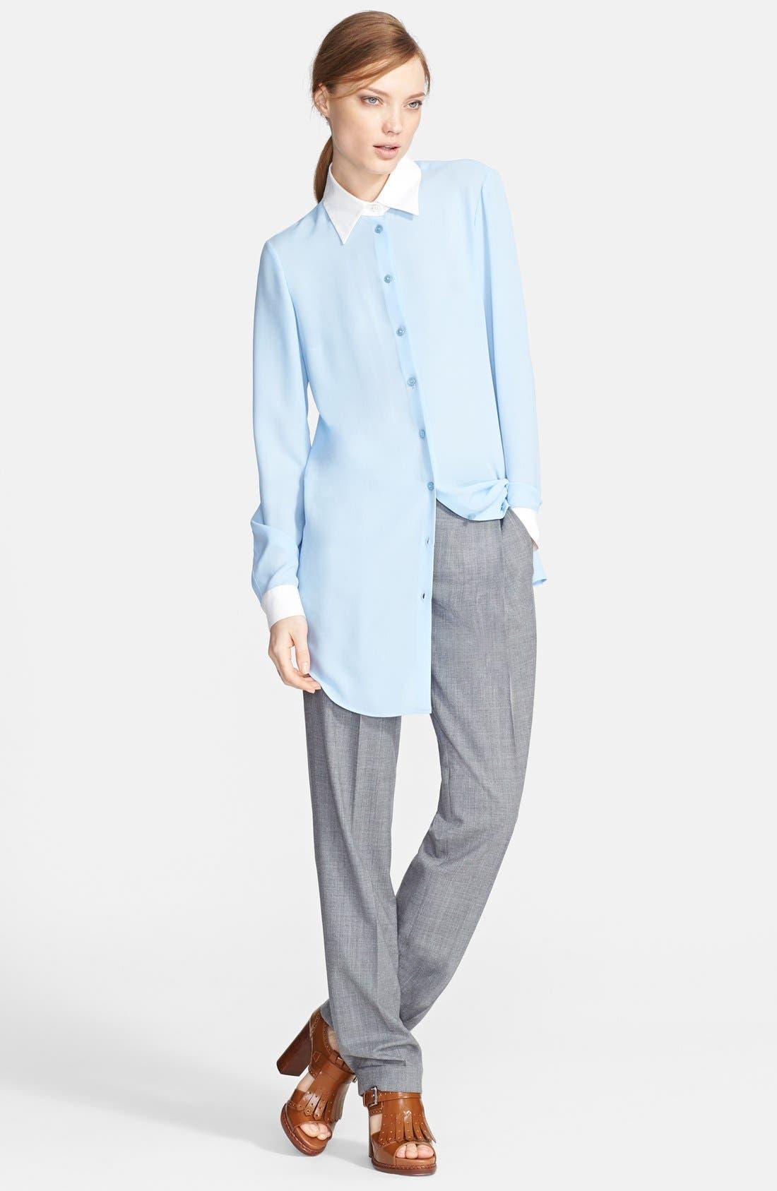 Alternate Image 3  - Michael Kors Long Silk Georgette Shirt