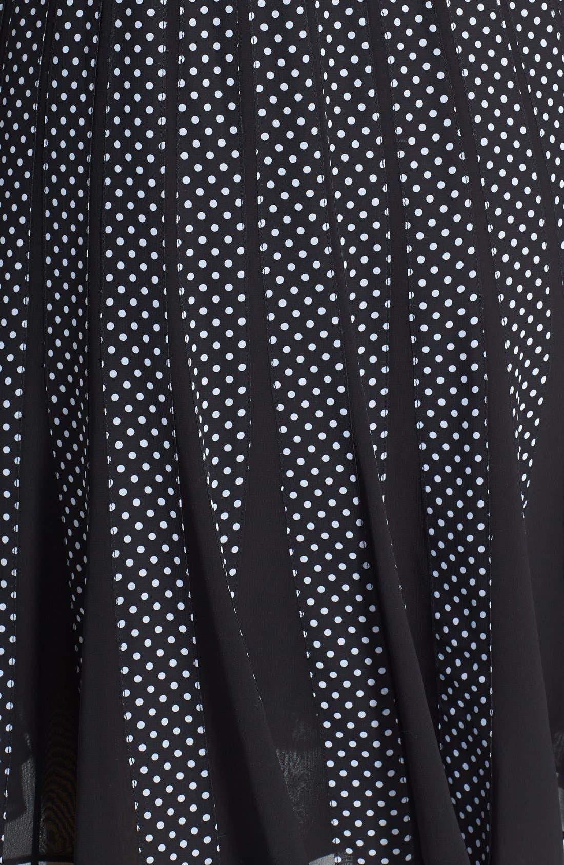 Alternate Image 4  - Adrianna Papell Polka Dot Chiffon Fit & Flare Dress