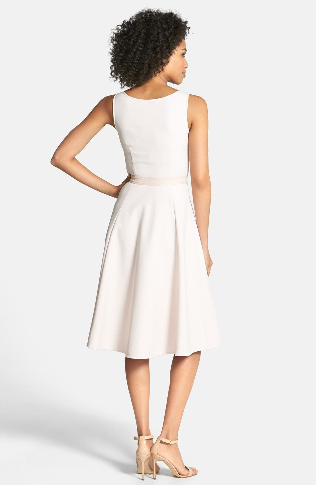 Alternate Image 2  - Cynthia Steffe Faux Leather Trim Fit & Flare Dress