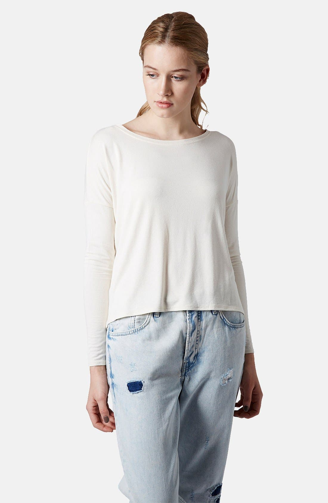 Main Image - Topshop Long Sleeve Crepe Top
