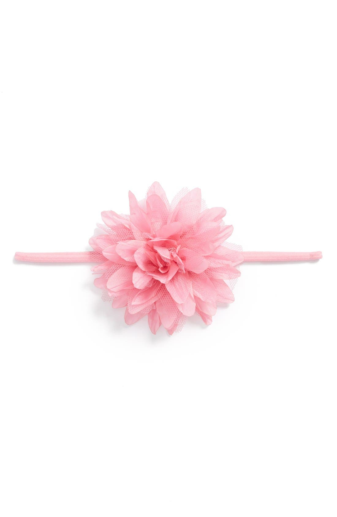 Alternate Image 1 Selected - PLH Bows & Laces Flower Headband (Baby Girls)