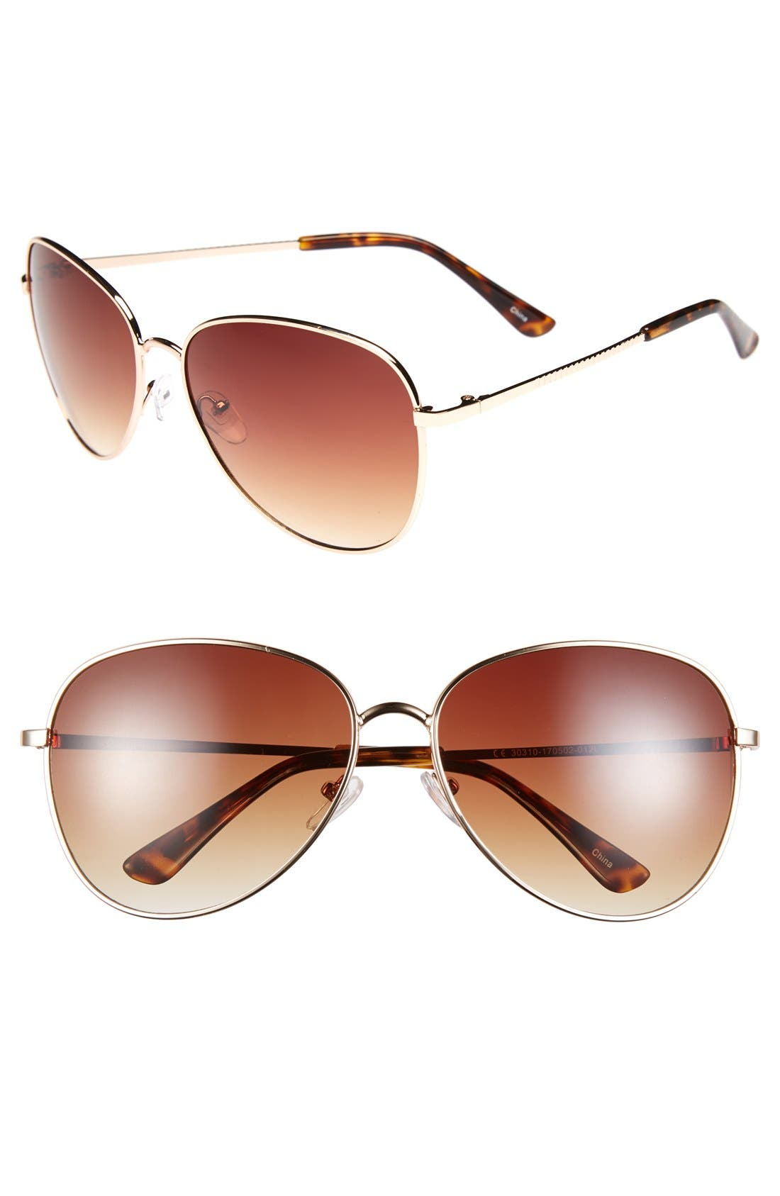 Alternate Image 1 Selected - Icon Eyewear 60mm Aviator Sunglasses (Juniors)