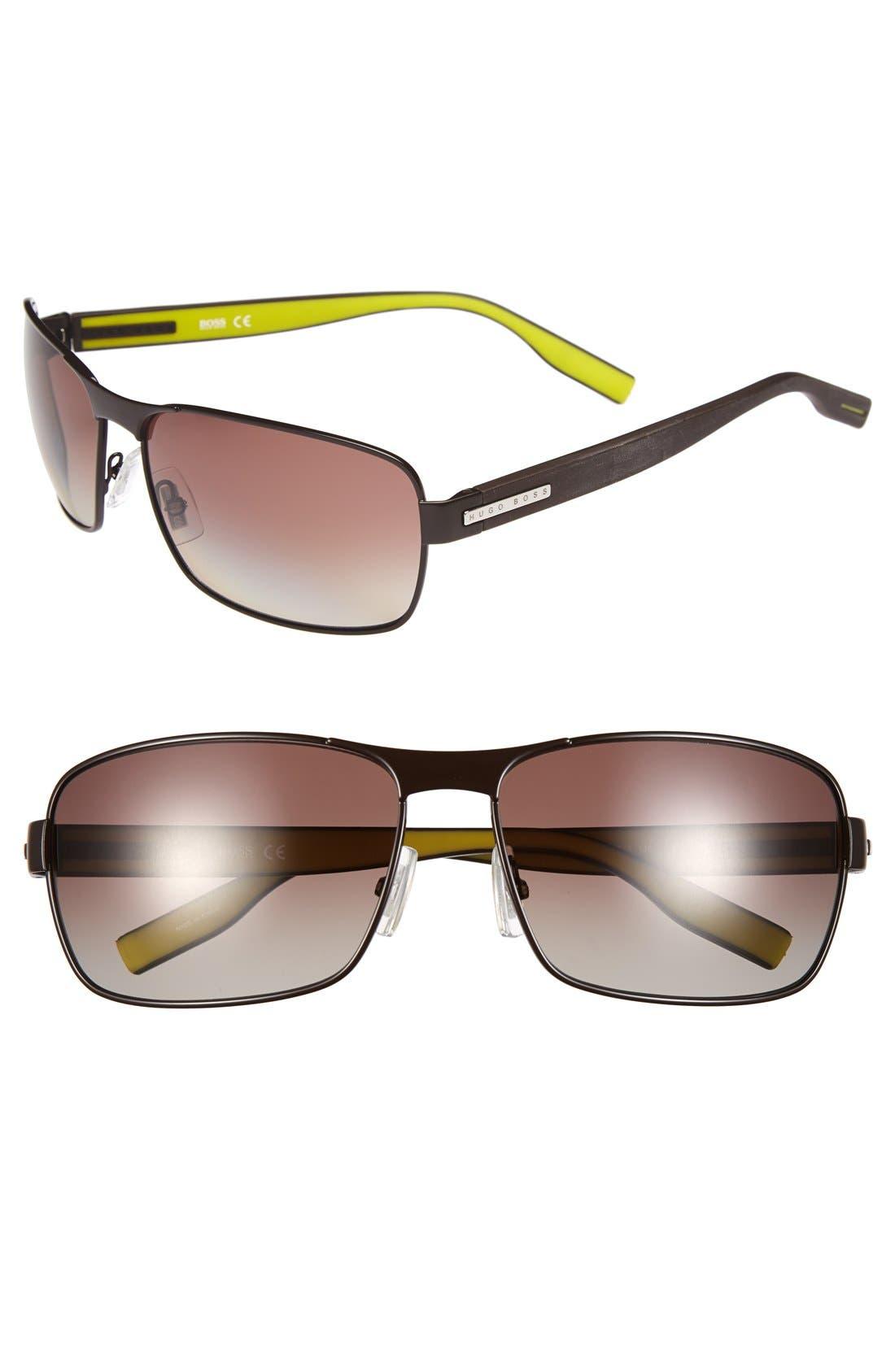 Alternate Image 1 Selected - BOSS 62mm Polarized Sunglasses