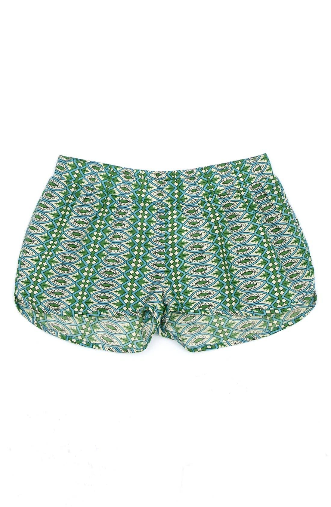 Main Image - Peek 'Medallion Spring' Cotton Shorts (Toddler Girls, Little Girls & Big Girls)
