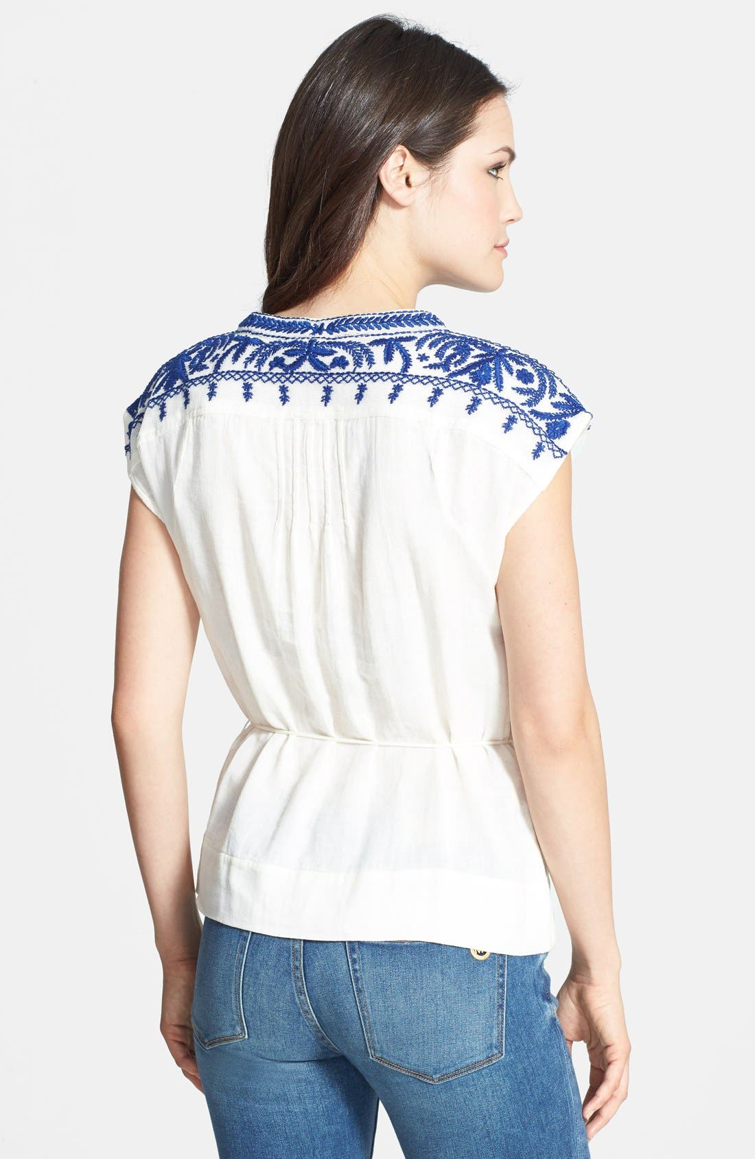 Alternate Image 2  - Lucky Brand 'Sori' Embroidered Cotton Top