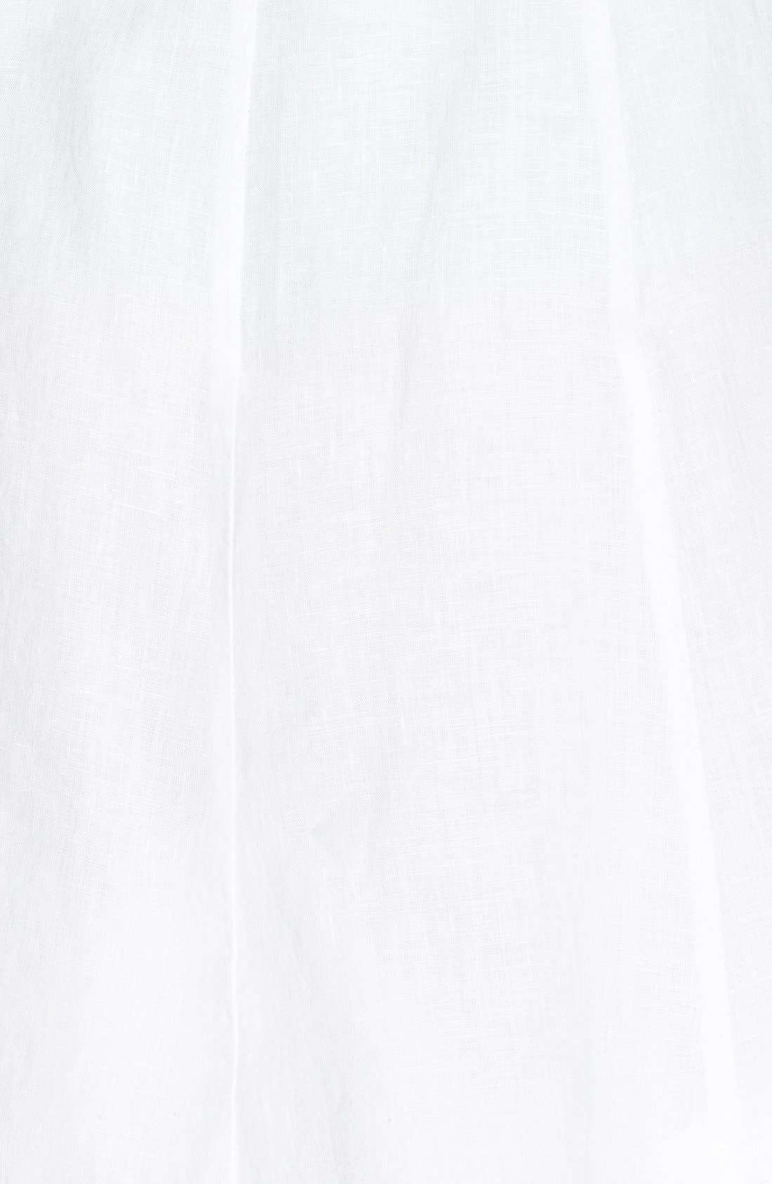 Alternate Image 4  - Eileen Fisher A-Line Linen Skirt (Regular & Petite)