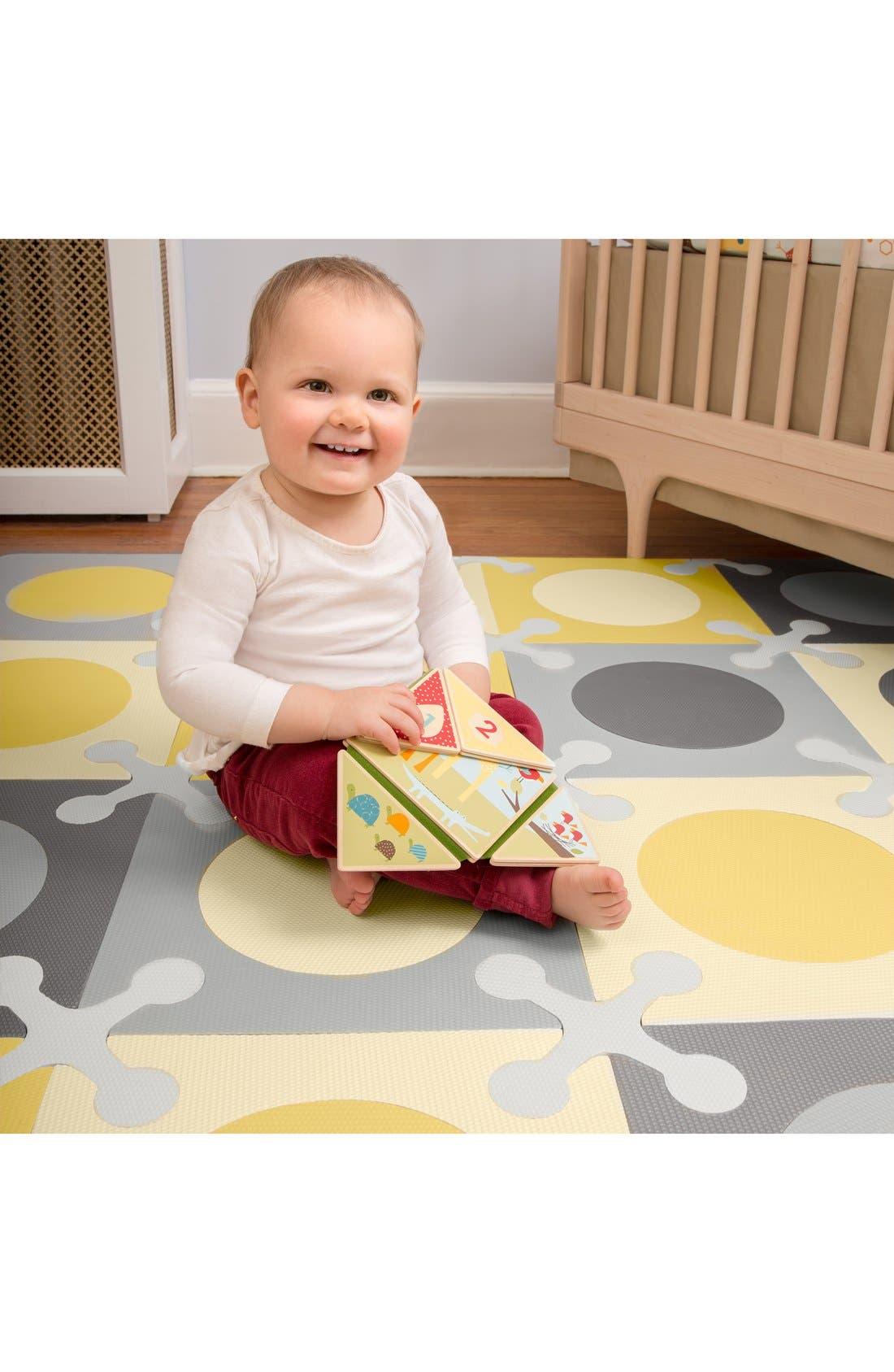 'Playspot' Floor Tiles,                             Alternate thumbnail 3, color,                             Gray/ Gold
