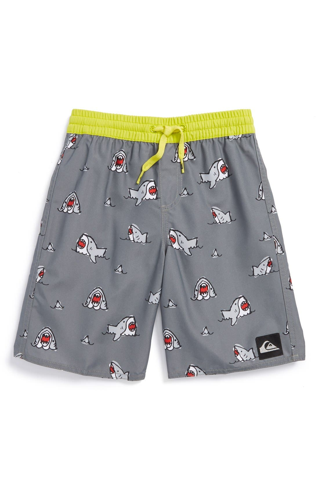 Main Image - Quiksilver 'Sharkbait' Volley Shorts (Little Boys)