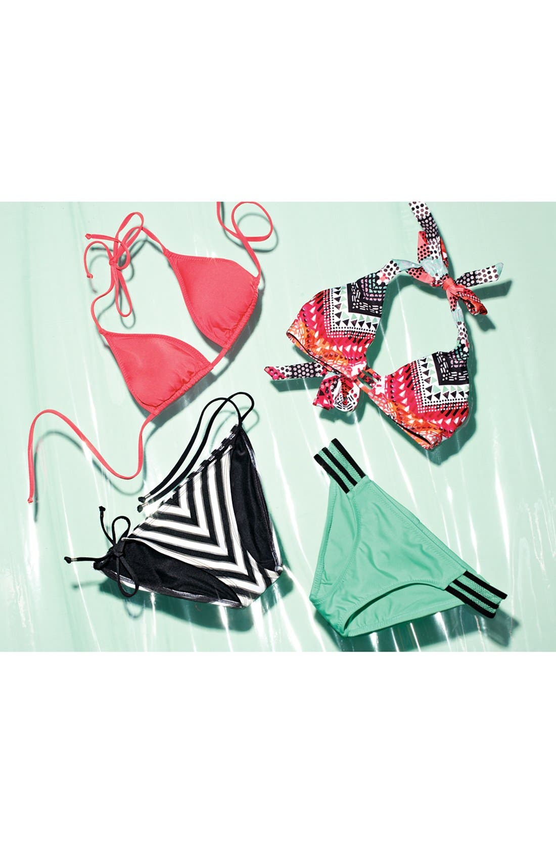 Alternate Image 7  - Becca 'Mayan' Halter Bikini Top