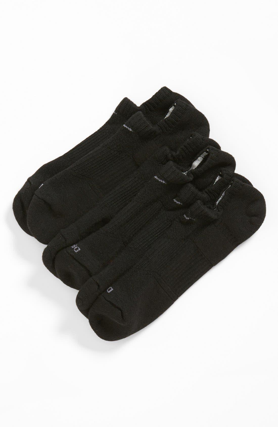 Dri-FIT 3-Pack Cushioned No-Show Socks,                         Main,                         color, Black